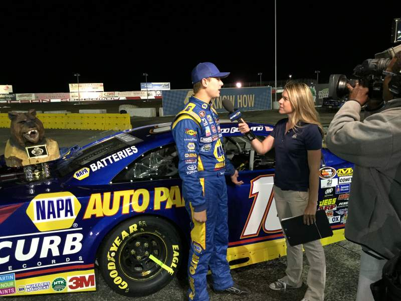 Todd Gilliland BMR NASCAR KN Pro Series West NAPA AUTO PARTS post race TV