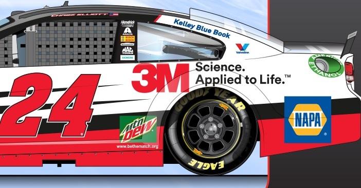Chase Elliott Sonoma Raceway Preview 24 3M Chevrolet NAPA 2016 rendering