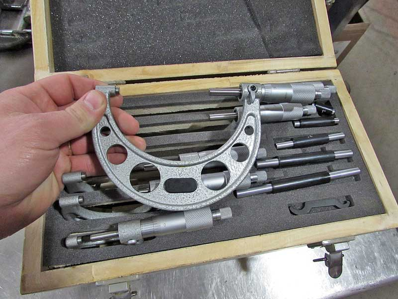 This a complete micrometer set that will cover just about anything you could need for automotive work.