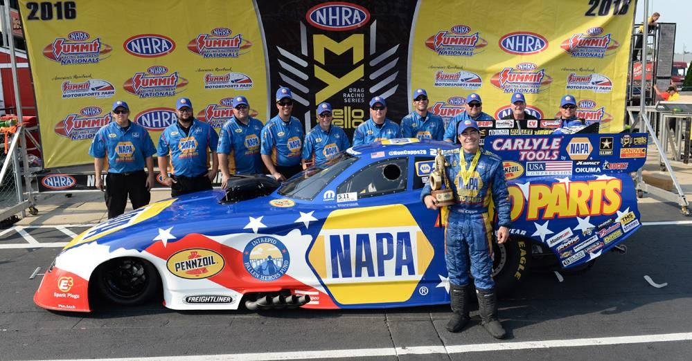 NAPA-Dodge-Wins-Norwalk-Wally-NHRA-Funny-Car-Ron-Capps-Team-Winners
