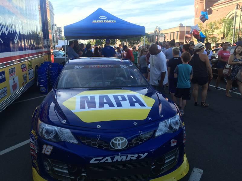 Todd Gilliland NAPA AUTO PARTS No 16 Toyota cruise night Stafford 2016