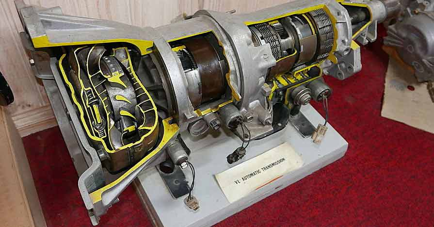 Transmission cutaway for transmission filter maintenance