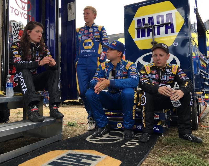 Todd Gilliland NAPA AUTO PARTS 2016 win Stateline Speedway BMR Drivers on break