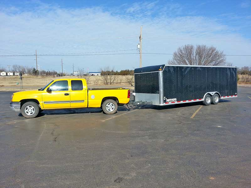 When finished, we drove the truck with a 24-foot enclosed trailer. It handled it quite well.