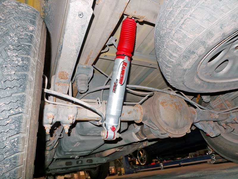 The rear shocks are easy to install, simply unbolt and bolt the new ones in.