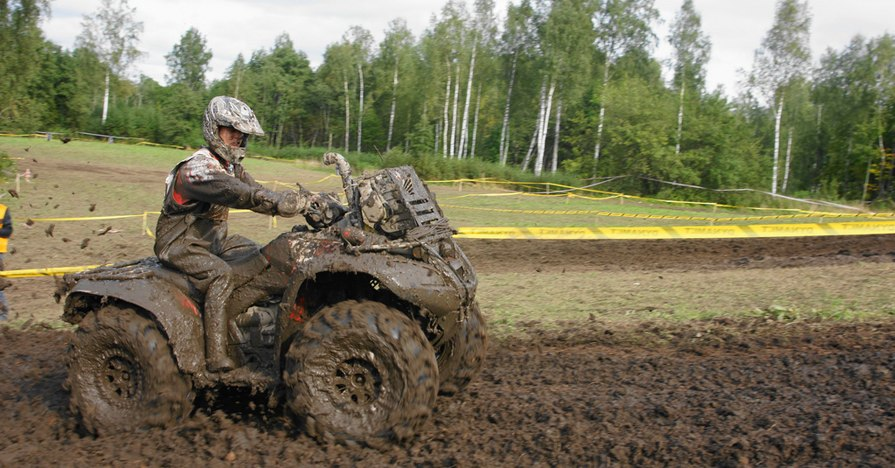 ATV in deep mud