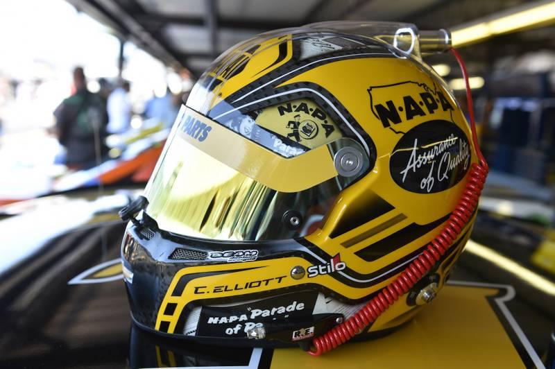 3-4 September, 2016, Darlington, South Carolina USA Chase Elliott helmet © 2016, Nigel Kinrade NKP