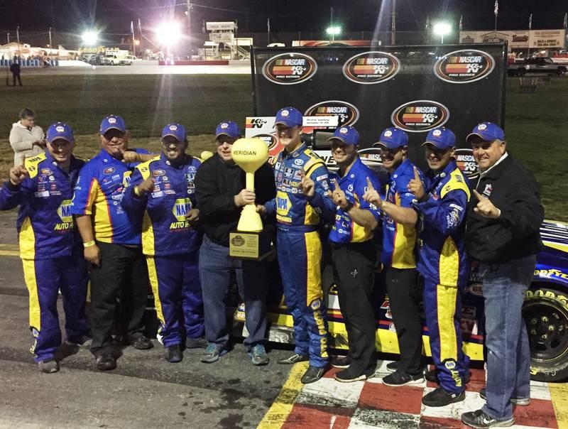 Todd Gilliland Idaho Meridian Speedway 2016 BMR NAPA AUTO PARTS 16 Winning team