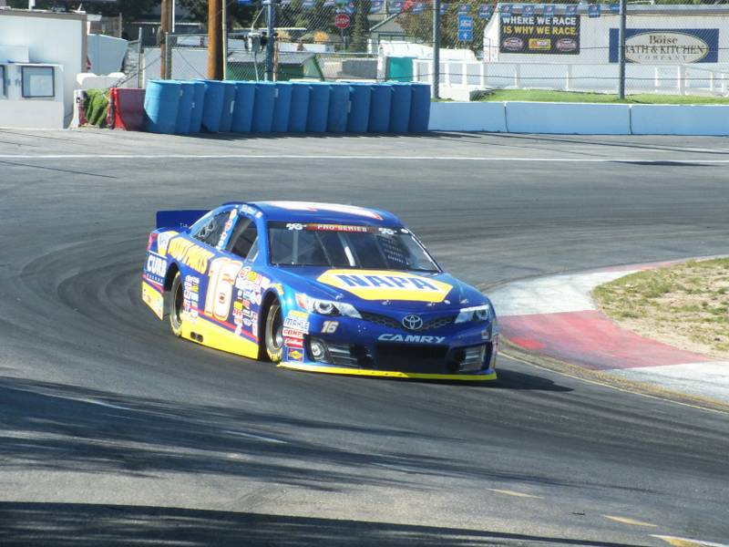 Todd Gilliland Idaho Meridian Speedway 2016 BMR NAPA AUTO PARTS 16 on track during practice