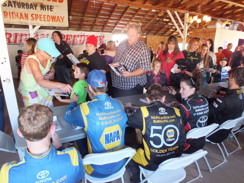 Todd Gilliland Idaho Meridian Speedway 2016 BMR NAPA AUTO PARTS Autograph session