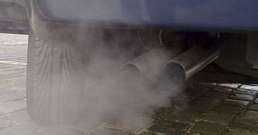 Car Exhaust due to Engine Idling