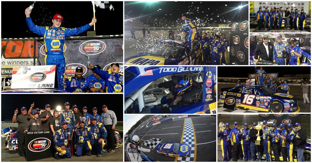 Todd-Gilliland-NAPA-AUTO-PARTS-2016-NASCAR-KN-Pro-Series-West-win-collage