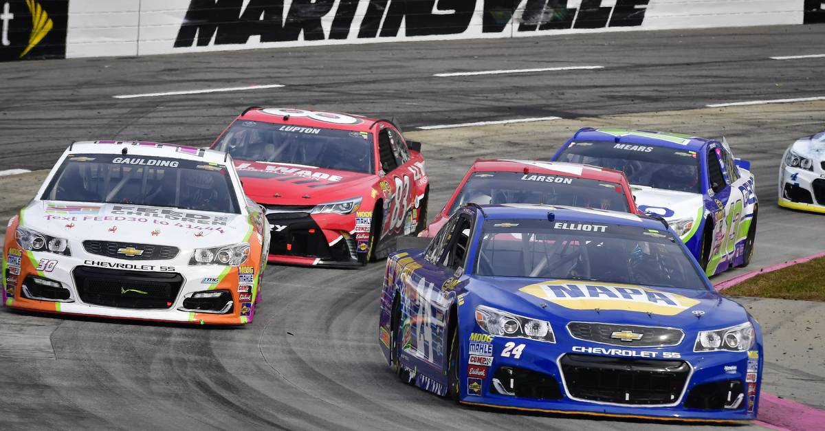28-30 October, 2016, Martinsville, Virginia USA Chase Elliott, Gray Gaulding, Kyle Larson, Dylan Lupton ©2016 Logan Whitton/NKP