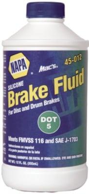 NAPA Brake Fluid Mac's DOT 5 Brake Fluid - 12 oz