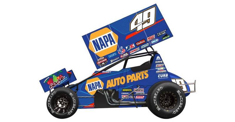 Kasey Kahne Racing 2017 NAPA AUTO PARTS 49 Sweet driver