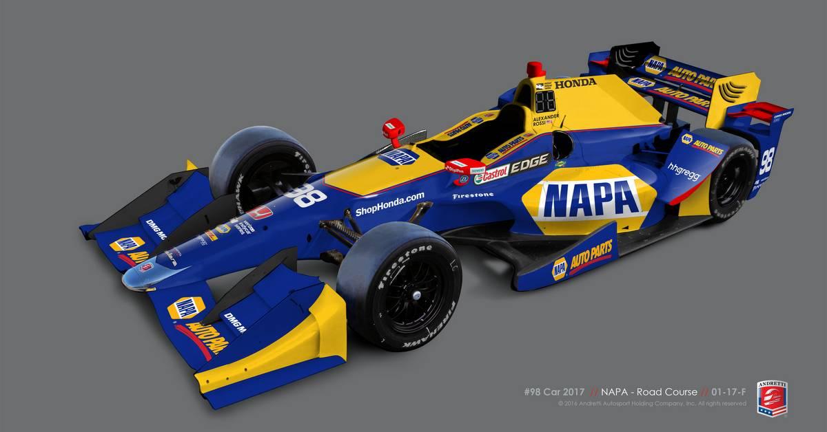 Alexander Rossi 2017 IndyCar NAPA AUTO PARTS 98 Andretti Autosport