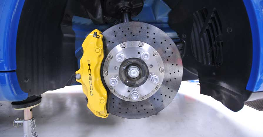 Clean brakes during service using brake cleaner