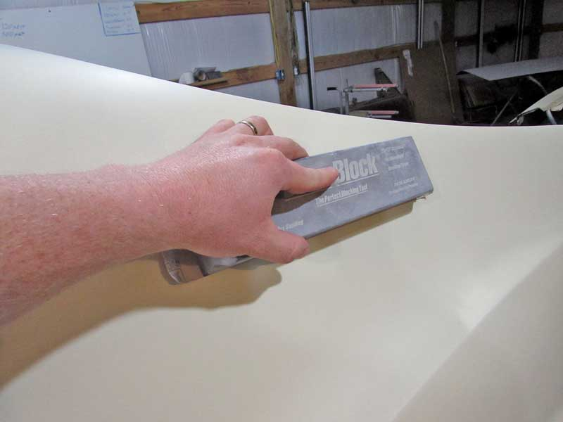 Block sanding is the only way find and eliminate the high and low spots in your body.