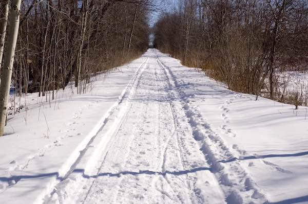 Snowmobile trail