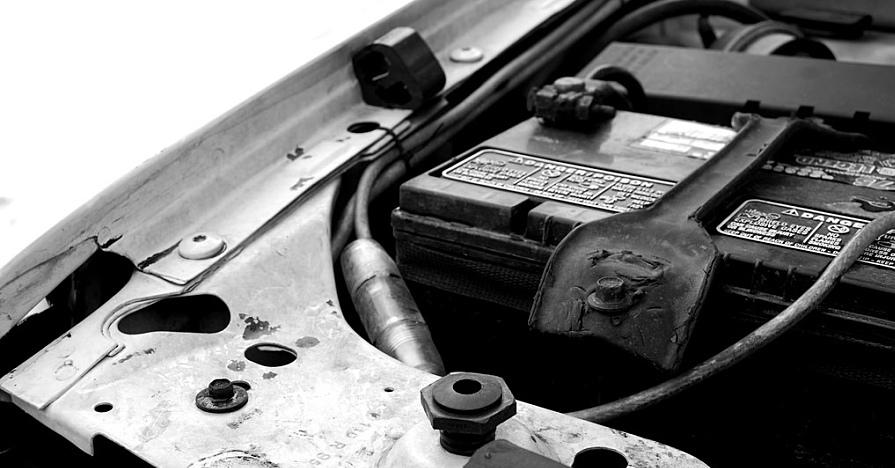 a car battery