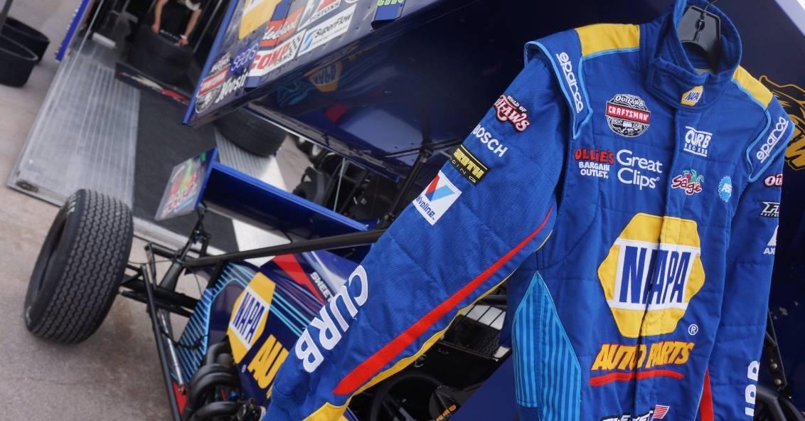 Brad Sweet NAPA AUTO PARTS Sprint Car Las Vegas 2017 KKR firesuit