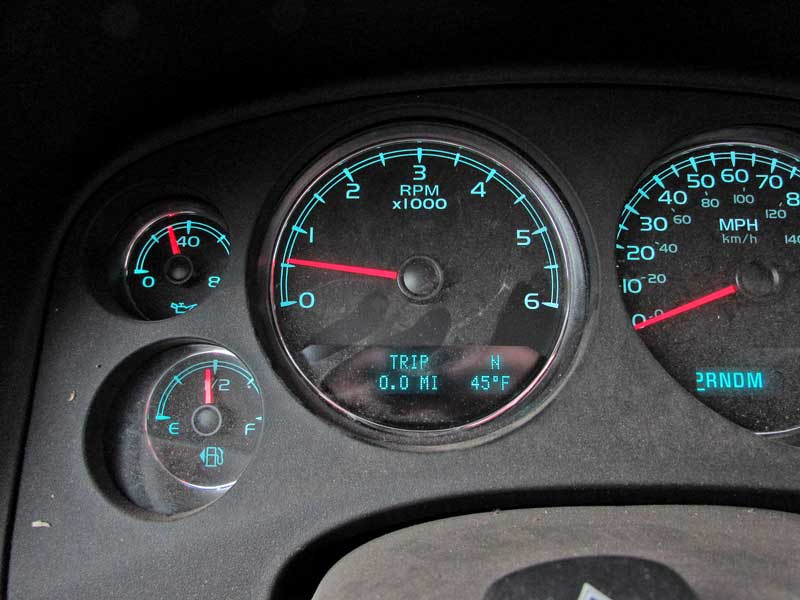 Next, the tripmeter was reset to track the mileage, and then we drove the minimum five miles to circulate the fluid.