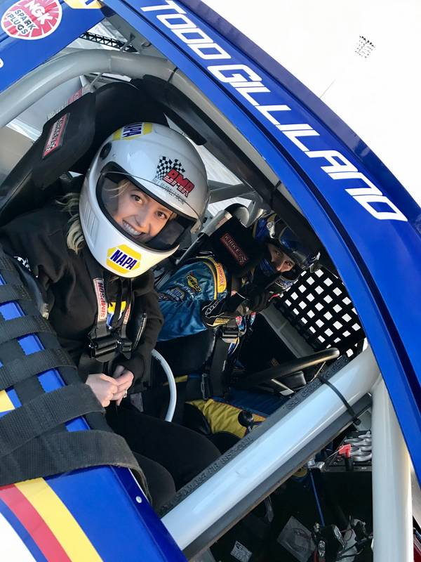 Todd Gilliland giving fans a ride in his car