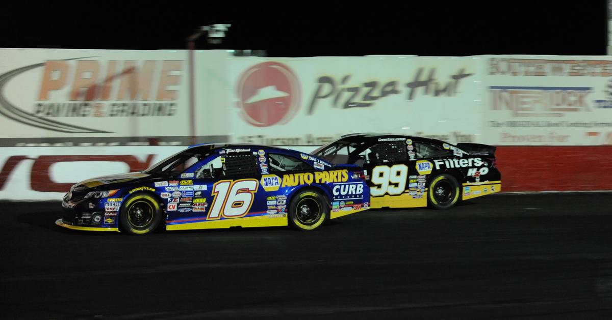 Todd Gilliland NAPA AUTO PARTS KN West Tucson 2017 leading Eggleston
