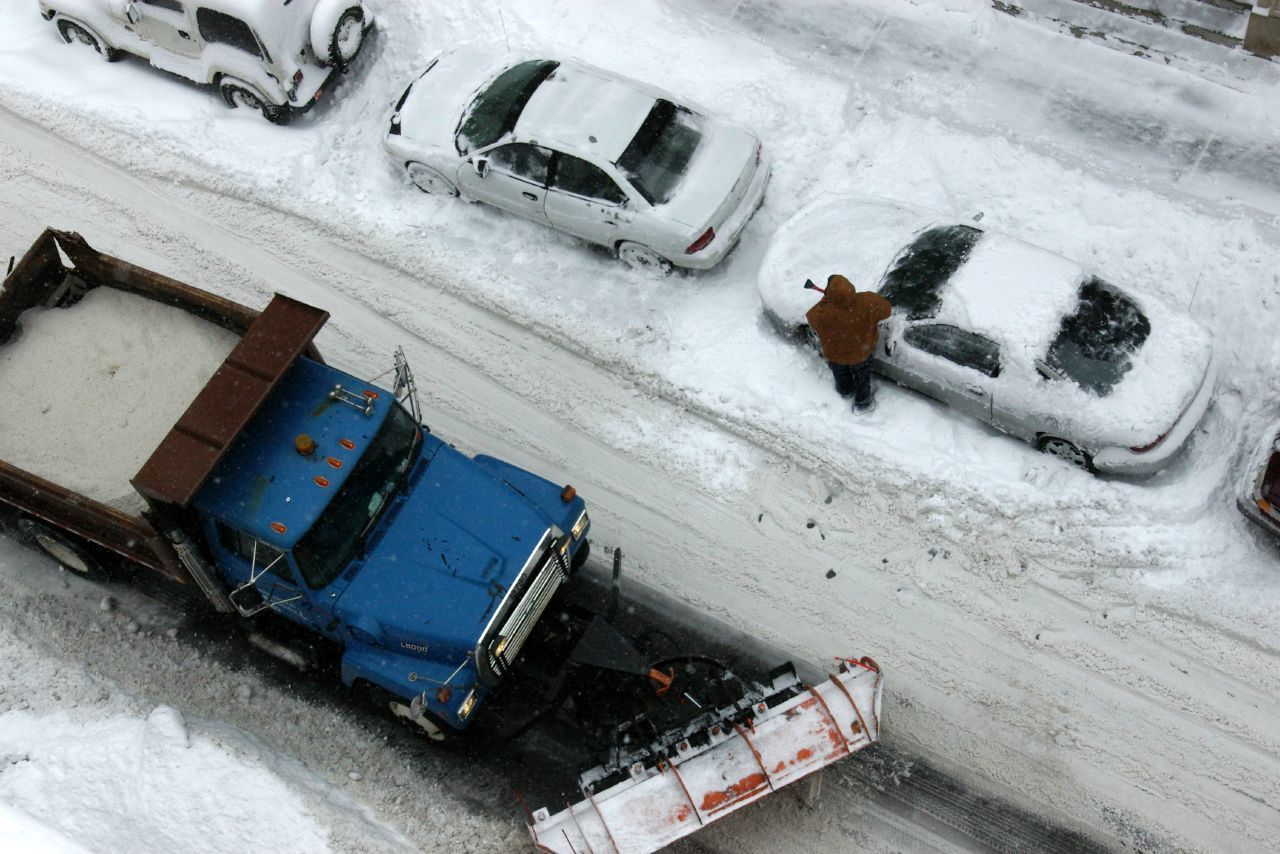 Even if the snow plow doesn't pass, you should still be able to get out.