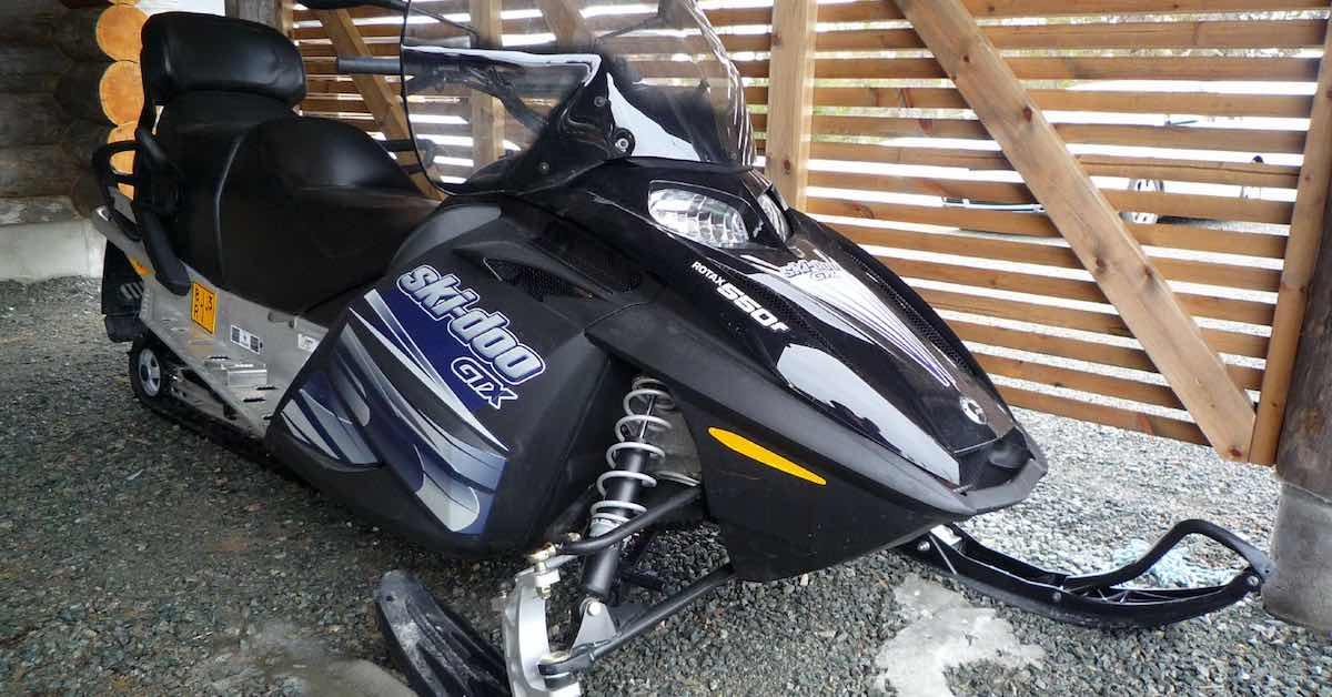 parked snowmobile