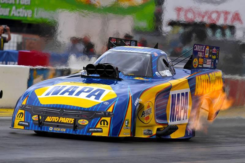 Ron Capps funny car flames