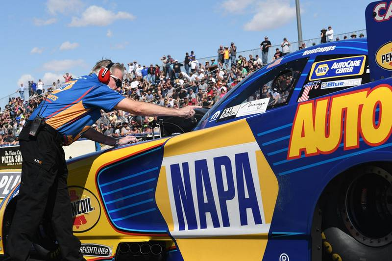 Ron Capps funny car staging