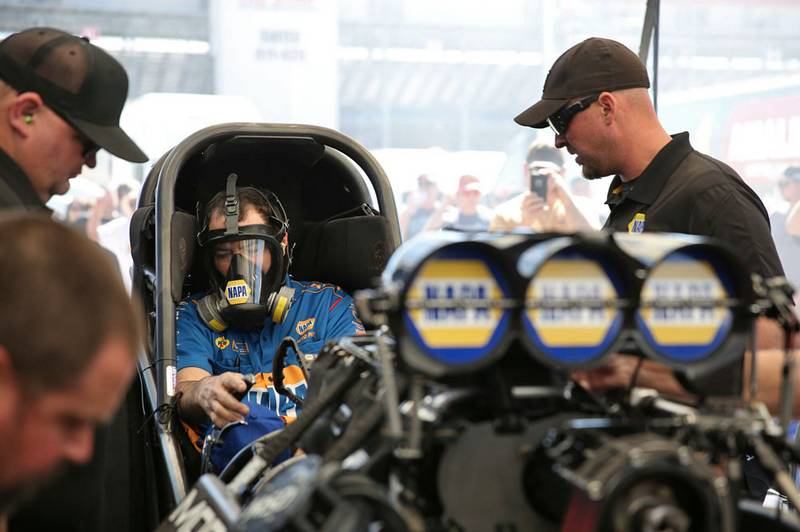 Ron Capps funny car tuning