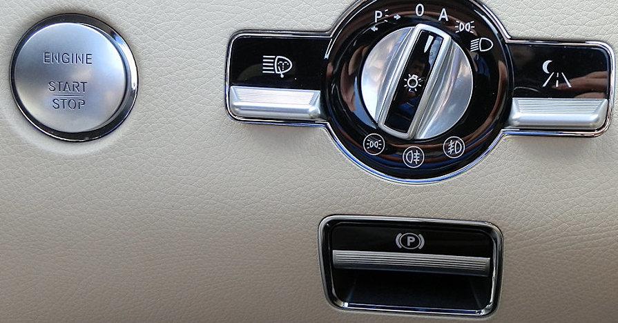 Parking brake button