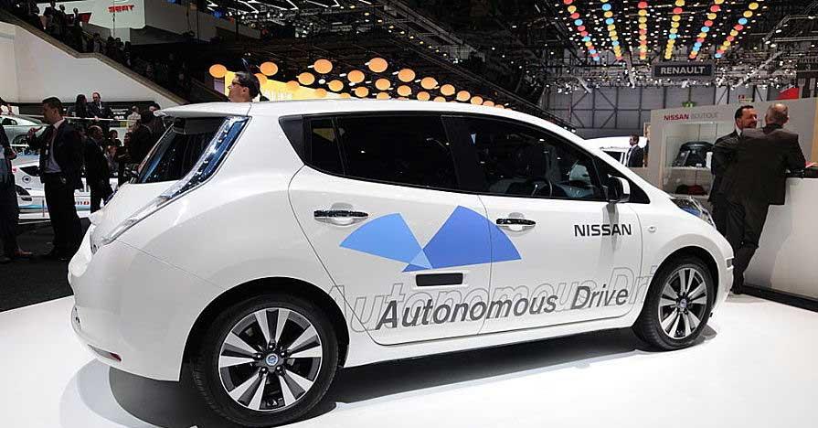driverless car on display