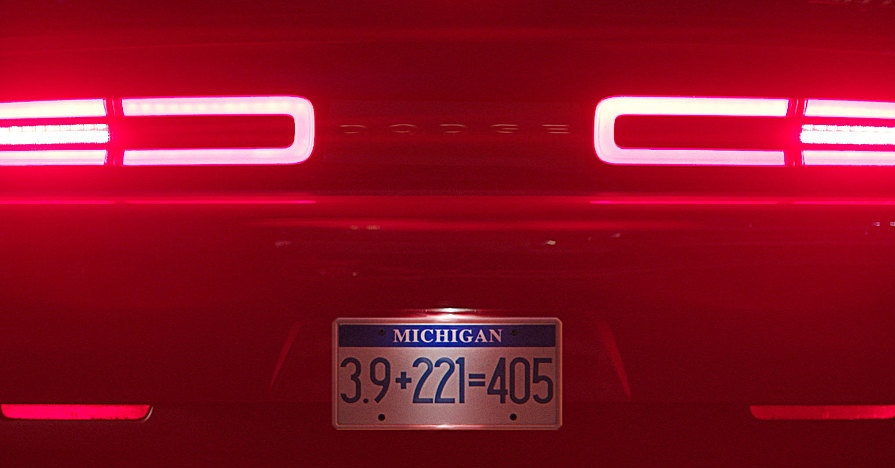 Dodge Challenger Demon taillights