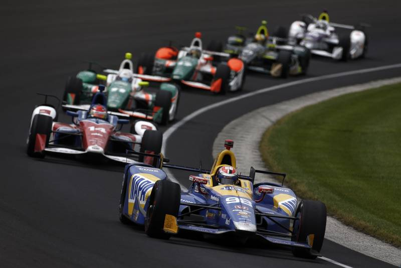 Verizon IndyCar Series Indianapolis 500 Race Indianapolis Motor Speedway, Indianapolis, IN USA Sunday 28 May 2017 Alexander Rossi, Andretti Herta Autosport with Curb-Agajanian Honda World Copyright: Phillip Abbott LAT Images ref: Digital Image abbott_indyR_0517_33495