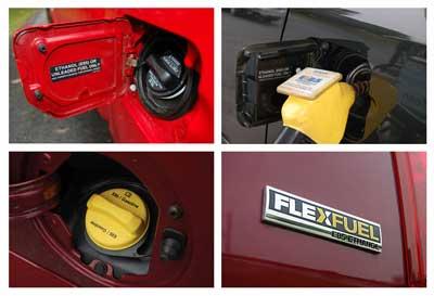 Flex fuel labels