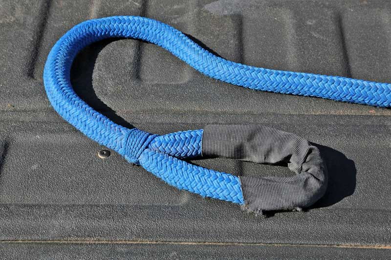 DitchPig® recovery rope is easy to use and safer than other recovery methods. The end loops allow for positive connection, unlike hooks.