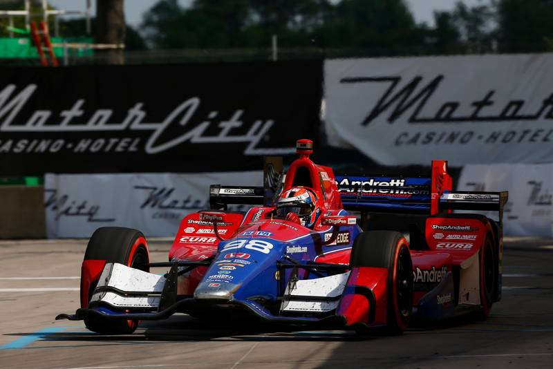 Verizon IndyCar Series Chevrolet Detroit Grand Prix Race 2 Raceway at Belle Isle Park, Detroit, MI USA Sunday 4 June 2017 Alexander Rossi, Andretti Herta Autosport with Curb-Agajanian Honda World Copyright: Phillip Abbott LAT Images ref: Digital Image abbott_detroit_0617_8314