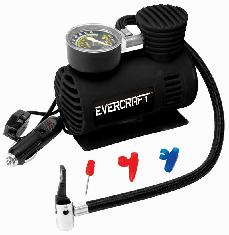 It is hard to drive on a repaired tire without air, that is where this little 12-volt powerhouse comes in.