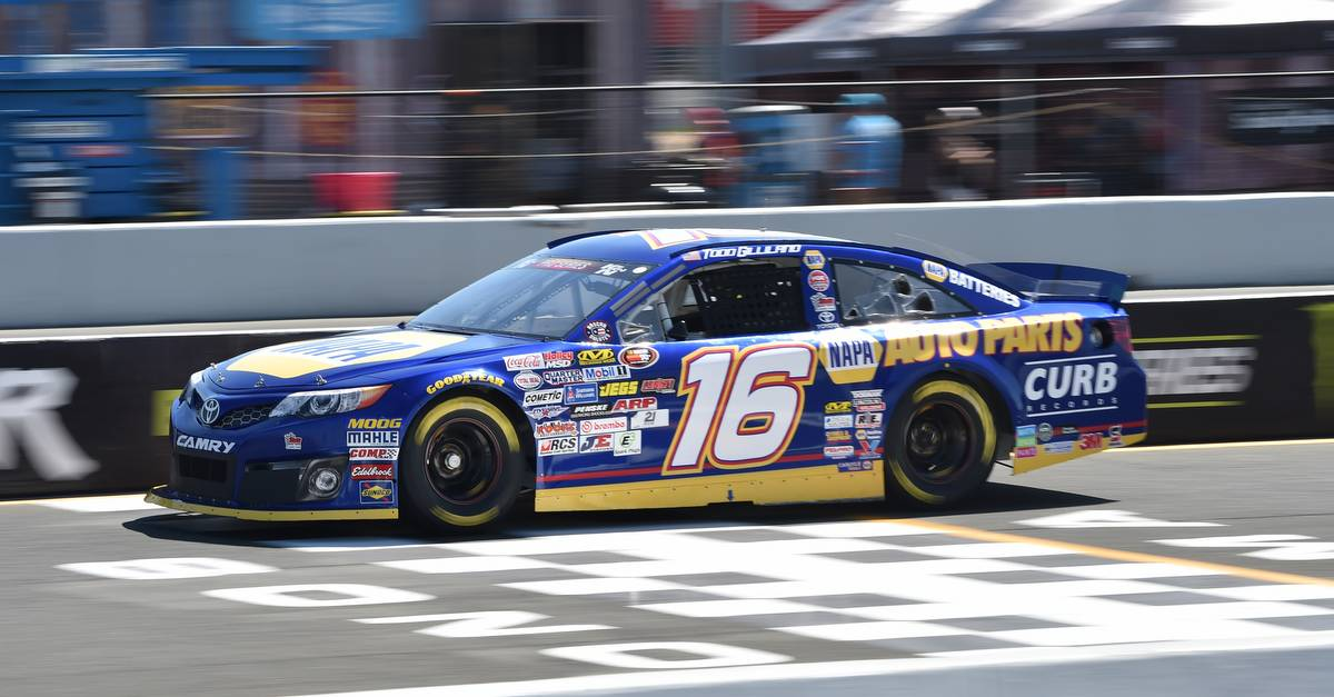 Todd Gilliland road course Sonoma 2017 NASCAR KN West NAPA Toyota on track