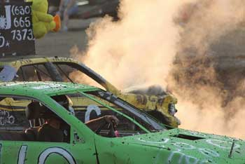 overheated cars at a country fair
