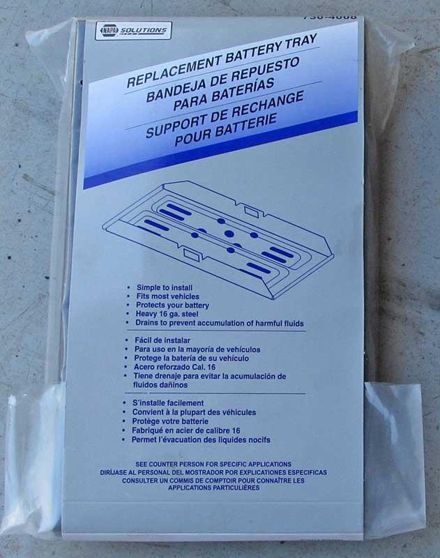 NAPA Solutions battery tray