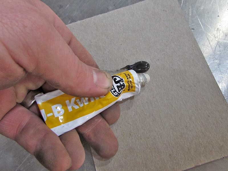 JB Weld epoxies are two-part compounds that cure in as little as 5 minutes, depending on the version you are using.