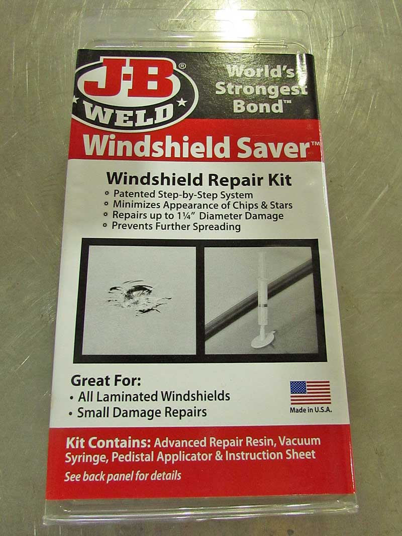 JB Weld windshield repair kit