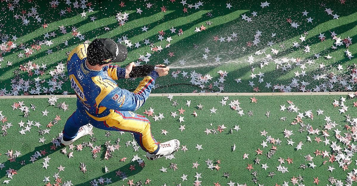 Rossi-podium-finish-Pocono-Raceway-2017-NAPA-AUTO-PARTS-98-celebration