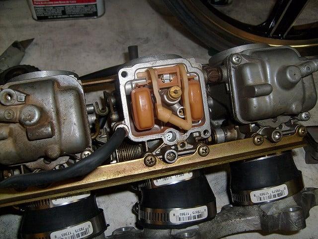 carburetor floats in a row