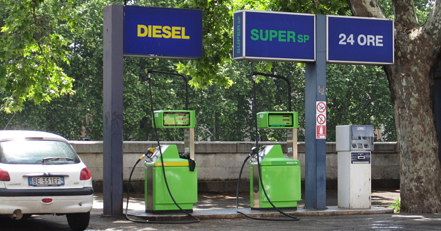 A diesel station, where you can purchase DEF fluid