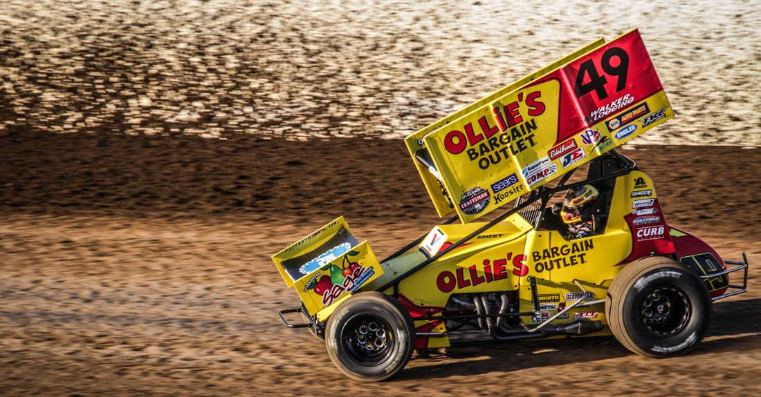 Brad-Sweet-top-five-finishes-Skagit-Grays-Harbor-World-of-Outlaws-sprint-car-2017-49-slinging-dirt.